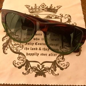 Juicy Couture Pink/Green Ombré Shades w/ Case